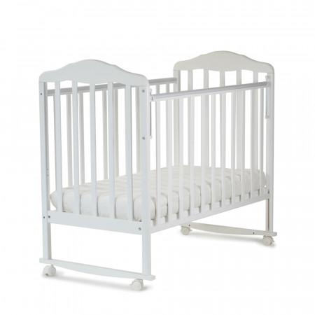 Кровать детская Березка колесо-качалка - белый