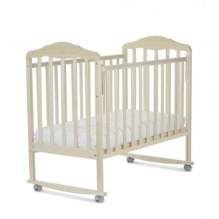 Кровать детская Березка колесо-качалка - береза снежная
